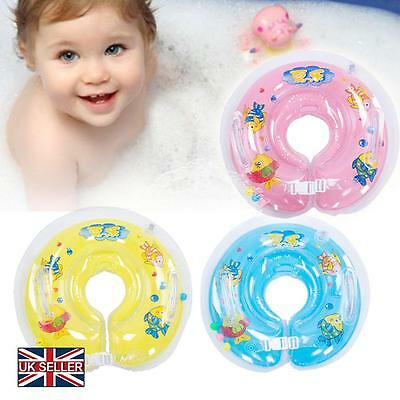 Baby Swimming Neck Float Inflatable Ring Adjustable Safety Aids 1-18 Months NEW