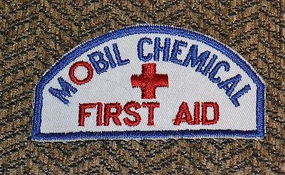 VTG 1950s Advertising Mobil Oil Chemical First Aid Patch NM NOS N