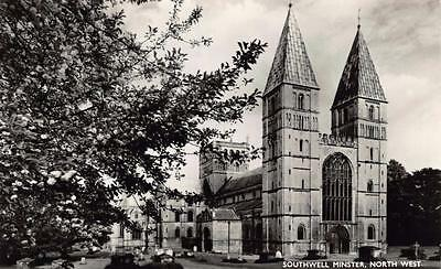 Vintage REAL PHOTO Postcard SOUTHWELL Minster North West Nottinghamshire