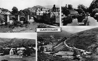 Postcard Vintage Real Photo LLANGOLLEN Multiview North Wales