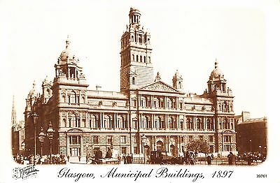 Postcard GLASGOW Municipal Buildings 1897 Francis Frith Collection Repro Card