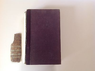 """Rare Book """"Dictionary of Trade Products....."""" By P. L. Simmonds 1858"""