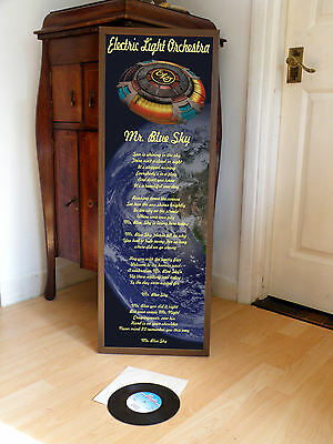 Electric Light Orchestra Mr Blue Sky Promotional Poster Lyric Sheet,rock,elo