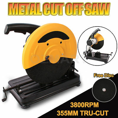 355mm Metal Cut Off Drop Saw Electric Saw Demolition Industrial Cutting Machine