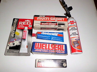 Wurth TRV-silicone, Loctite, Red Hermetite & other gasket sealants