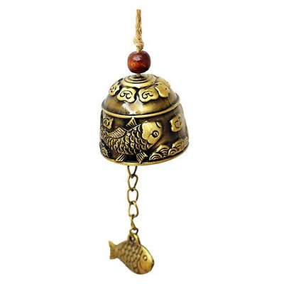 1Pc Chinese Traditional Dragon or Fish Feng Shui Bell Blessing Fortune Hang S6E2