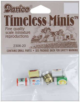 Timeless Miniatures Assorted Beer Cans 6/Pkg 2306-20