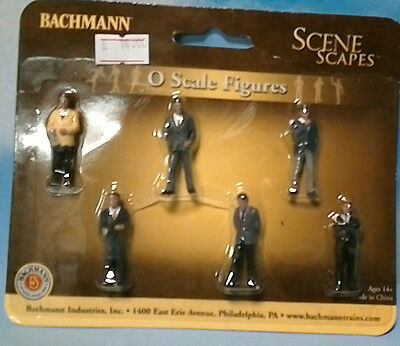 Spur 0, 1 Set 6 Figuren  Businessmen, Bachmann 33162, OVP