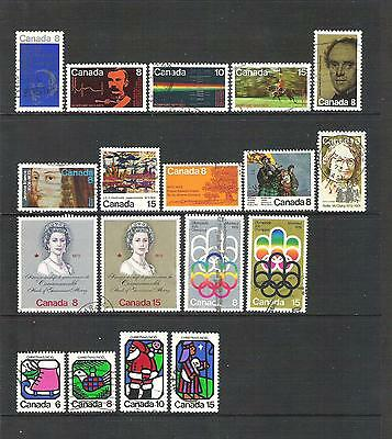 CDN601 Canada 1973 & 4 complete year issues used collection ex SG773 (2 scans)