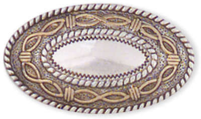 "Concho Silver & Gold Screwback 1.5"" Angel Fire Oval 773310"