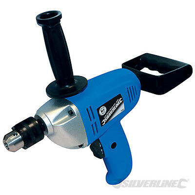 Silverline 600W Low Speed Drill Cement Plaster Mortar Paint Mixer Mixing Paddle