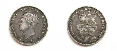 George Iv 1825 Silver Shilling