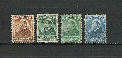 CDN71 Canada Queen Victoria (Fiscal) used Bill Stamps.