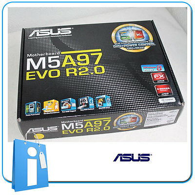 Placa base ATX ASUS M5A97 EVO R2.0 ddr3 Socket AM3 con Accesorios