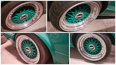 Genuine Bbs Rs Rs001 3 Piece Split Rims Alloy Wheels With Tyres R15 8J 9J 4X100