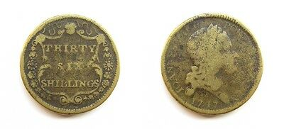 English Brass Coin Weight For 36 Thirty Six Shillings - 1747