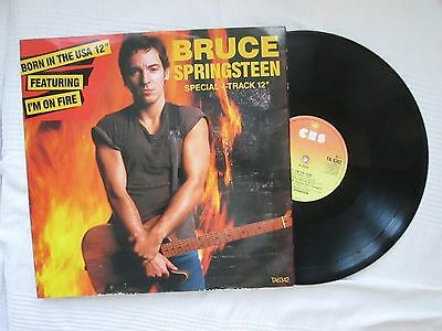 """Bruce Springsteen 12"""" Vinyl Born In The USA TA 6342 Early pressing A2, B1 CBS"""