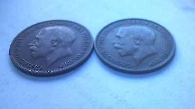 ***EIGHT*** x 1920 King George V Penny coins