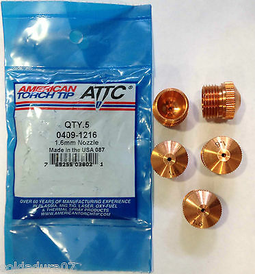 5 Qty Plasma Coupe Torche Douille Tip SAF CPM15 FRO 0409 1216 Fabriqué in USA