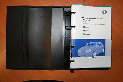 Vw Golf Mk6 Handbook Owners Manual Wallet For 2008-2012 Cars Ref4959