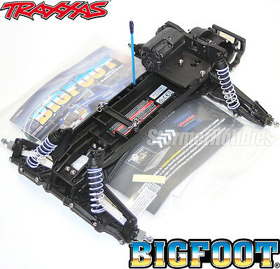Traxxas BIGFOOT Stampede BLACK chassis pre roller rolling with transmission