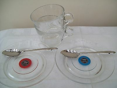 Lavazza Cups and Saucers with spoons