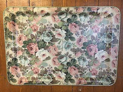 Vintage Large 1960s Floral Chintzy Kitchen Tray