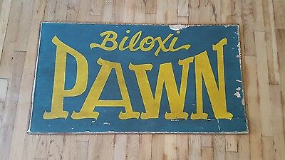 Large Vintage Beach Industrial Wooden Sign