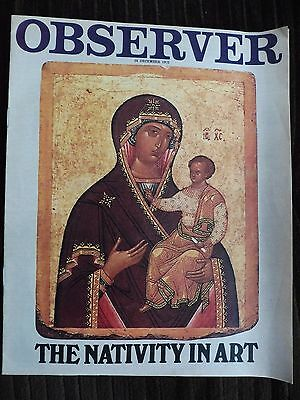 Vintage Observer Magazine 1972 The Nativity In Art - 10 Pages Of Religious Art