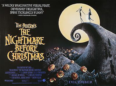 "The nightmare before christmas 16"" x 12"" Reproduction Movie Poster Photo"