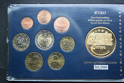 Griechenland-Greece: Euro KMS 2002, incl. 2€, incl. Medaille 2003,#F0462,UNC-ST
