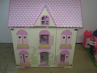Wooden Dolls House With  All Furniture