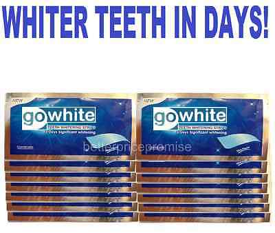 28 (Full Course) Go White Professional Teeth Whitening Strips (14 Pouches)