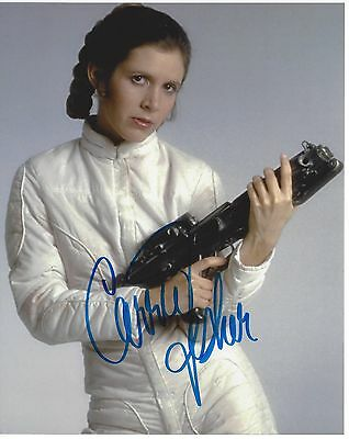 CARRIE FISHER Star Wars Signed 8x10 Colour Photo from The Empire Strikes Back