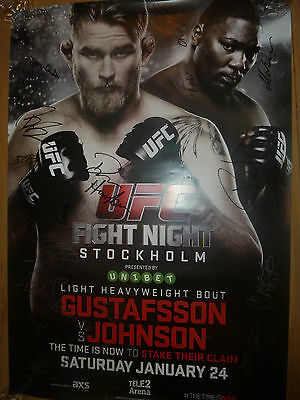 UFC on FOX 14 Gustafsson Vs Johnson Autographed Full Size Poster SBC MMA Signed