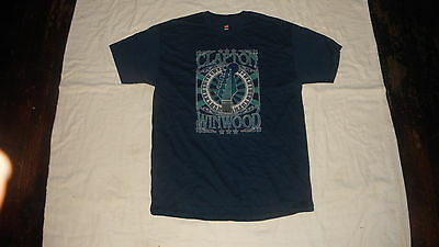 Vtg Eric Clapton & Steve Windwood 2009 Concert Tour Blue T Shirt Large!!