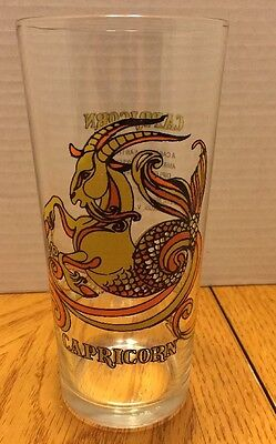 Vintage 1976 Capricorn Arby's Zodiac Drinking Glass Cup Tumbler