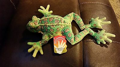 New Nwt Folkmanis 'leopard Frog' Soft Plus Hand Puppet Flexible Legs