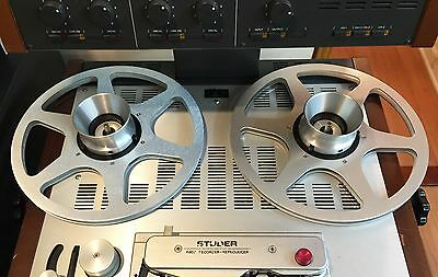 """ONE PAIR   New  10.5"""" Anodized  Aluminum metal Reels   Silver"""