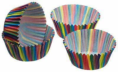 Pack of Sixty Jazzy Stripe Cake Cases