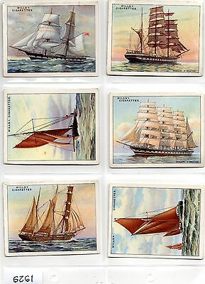 """A set of WILLS """"RIGS OF SHIPS"""" cigarette cards"""
