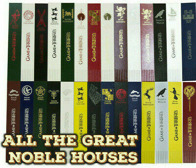 Game of Thrones Gift - Bonded Leather Foil blocked bookmark