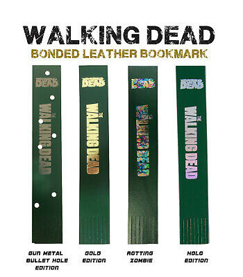 Walking Dead bonded Leather Bookmark - Foil Blocked in Gold, Silver or Gun Metal