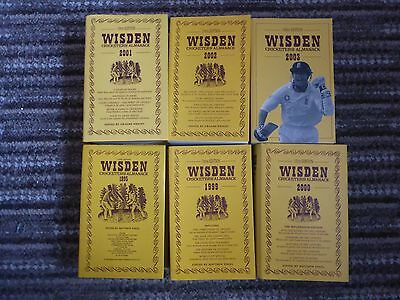 x6 Wisden Cricketers' Almanack Book's - Year's 95,99,00,01,02 & 03