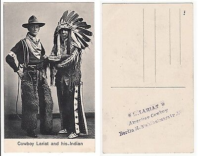 Berlin, Wild West Show im Zirkus ,Cowboy and American Indian in circus um 1920
