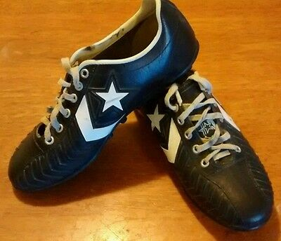 vintage converse black white shoes football cleats TDs Tony Dorsett mens size 9