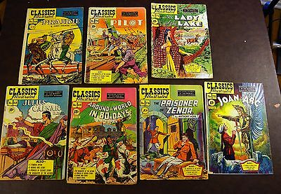 Classics Illustrated - early editions lot of 7 - #58 - 78 - FREE SHIPPING