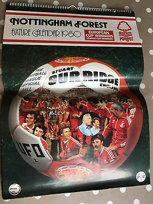 Nottingham Forest Calendar 1980