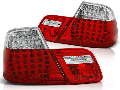 New Set Rear Tail Lights Rhd Ldbm69 Bmw E46 04.1999-03.2003 Coupe Red White Led