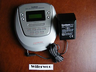 Goodmans CDMP370 Personal Compact Disc Player - Built In MP3 Reader & Charger
